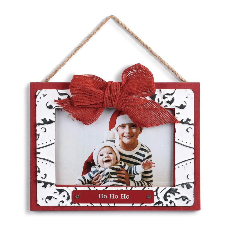 """Ho Ho Ho"" Ceiling Tin Frame Ornament 
