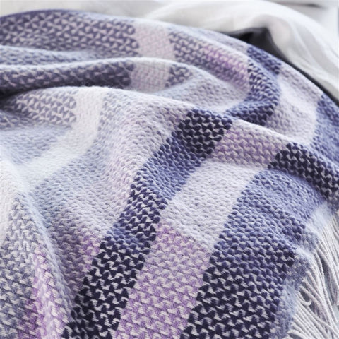 Fortrose Violet Throw-Soft Furnishings-DG-Designers Guild-Putti Fine Furnishings