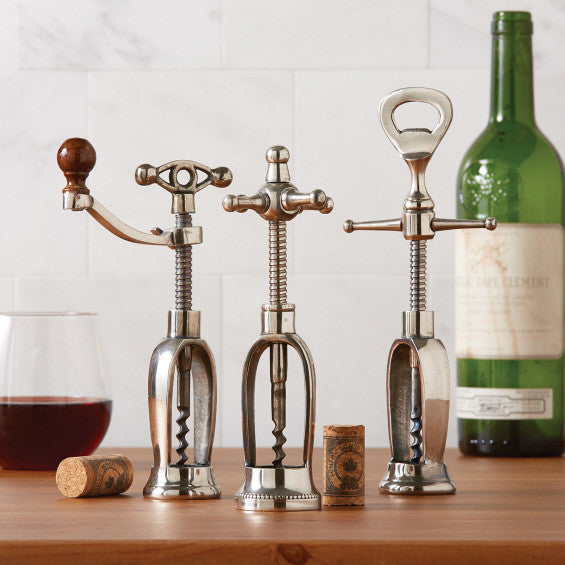 Sommelier Antiqued Silver Corkscrew, TC-Two's Company, Putti Fine Furnishings