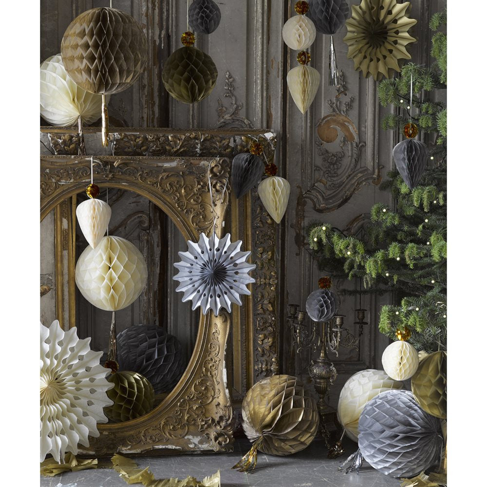 Decedant Decs Metallic and Cream Honeycombs-Party Decorations-TT-Talking Tables-Putti Fine Furnishings