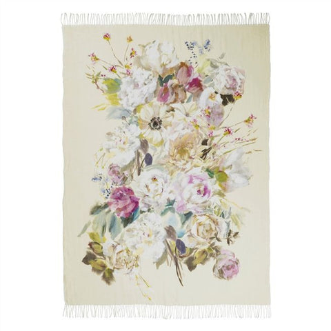 Designers Guild Palissy Camellia Throw-Soft Furnishings-DG-Designers Guild-Putti Fine Furnishings
