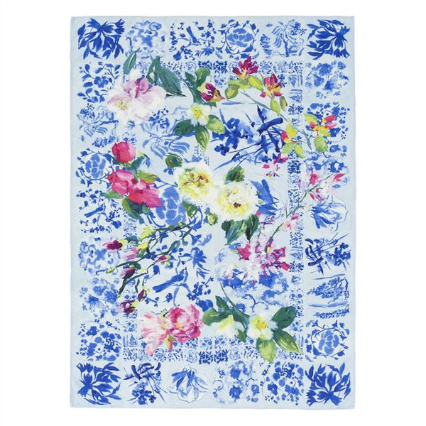 Designers Guild Majolica Cornflower Throw-Soft Furnishings-DG-Designers Guild-Putti Fine Furnishings