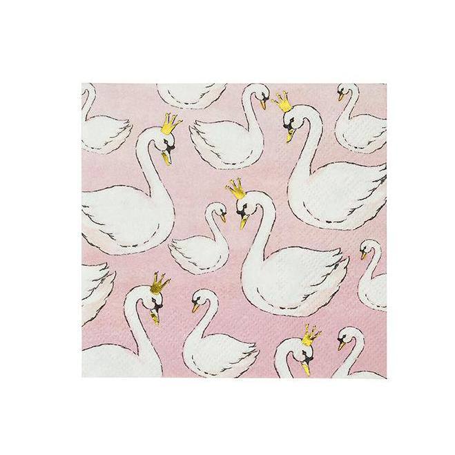 """We Heart Swans"" Paper Napkins - Beverage, TT-Talking Tables, Putti Fine Furnishings"
