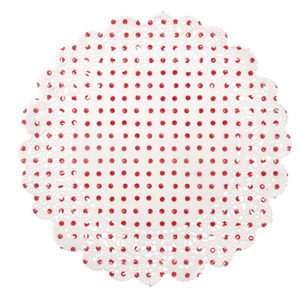 Red & White Spot Doilly-Party Supplies-TT-Talking Tables-Putti Fine Furnishings