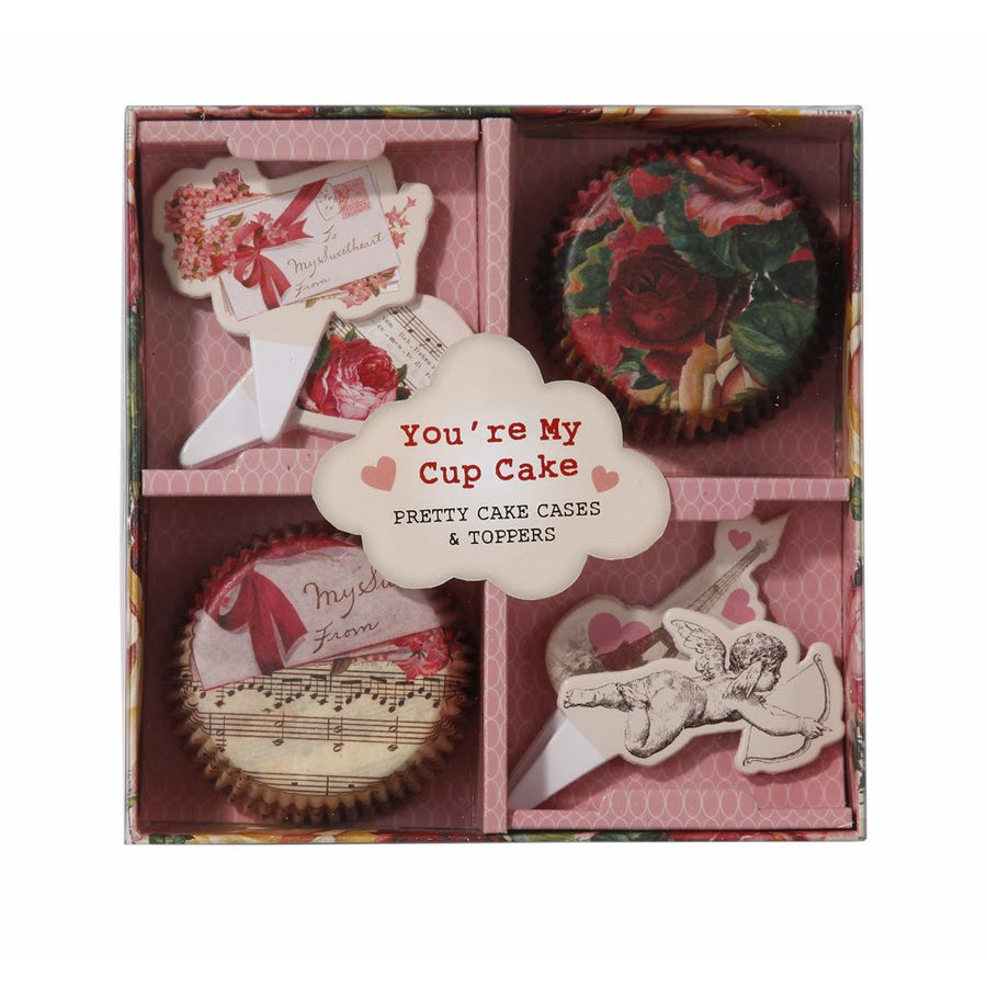 Love Talk Cupcake and Topper Set