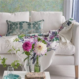 Designers Guild Faience Blanc Throw, DG-Designers Guild, Putti Fine Furnishings