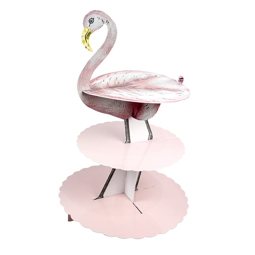 """Truly Flamingo"" Three Tier Cake Stand-TT-Talking Tables-Putti Fine Furnishings"