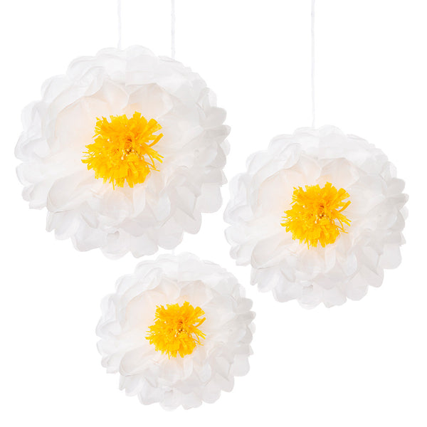 Decedant Decs Daisy Flower Pom Poms -  Decorations - Talking Tables - Putti Fine Furnishings Toronto Canada - 1