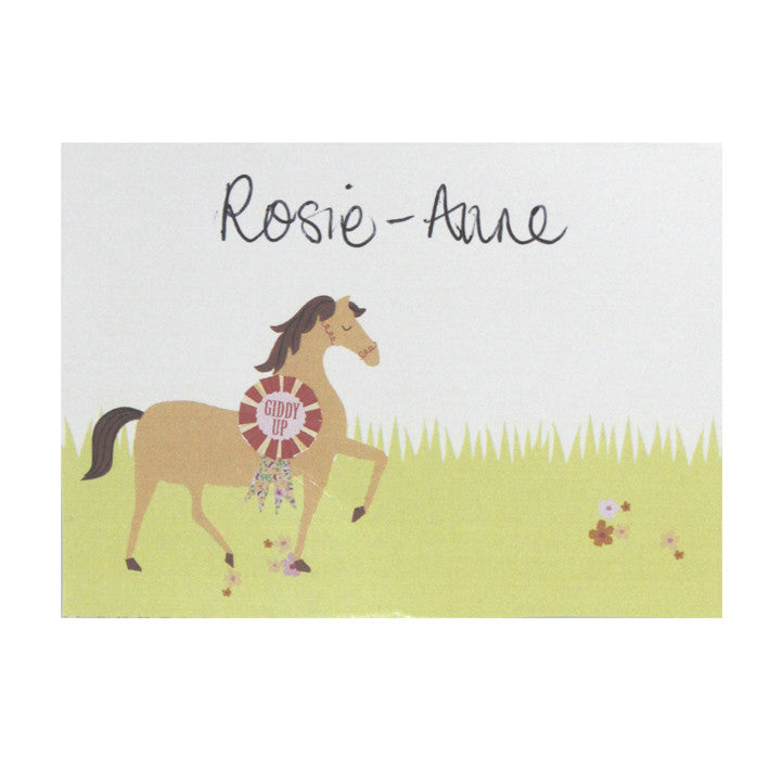 Pony Party - Free Printable Place Cards