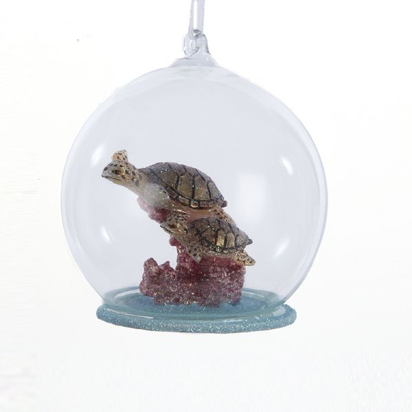 Kurt Adler Glass Bubble Sea Turtle Ornament | Putti Christmas Canada