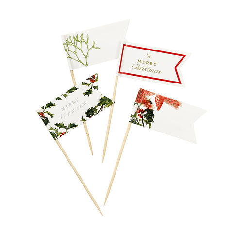 Botanical Christmas Canape Picks-Party Supplies-TT-Talking Tables-Putti Fine Furnishings