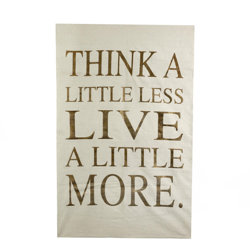 """Think a Little Less Live a Little More"" Rug - Ivory, IT-Indaba Trading, Putti Fine Furnishings"
