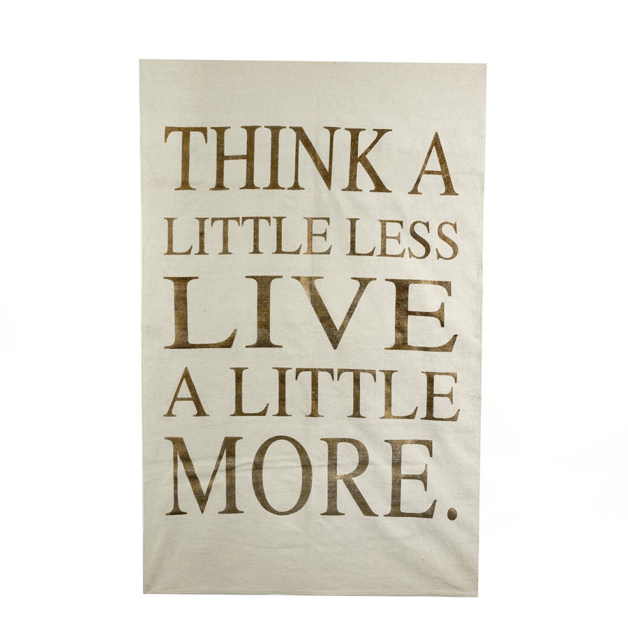 """Think a Little Less Live a Little More"" Rug - Ivory"