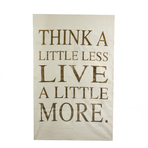 """Think a Little Less Live a Little More"" Rug - Ivory-Soft Furnishings-IT-Indaba Trading-Putti Fine Furnishings"