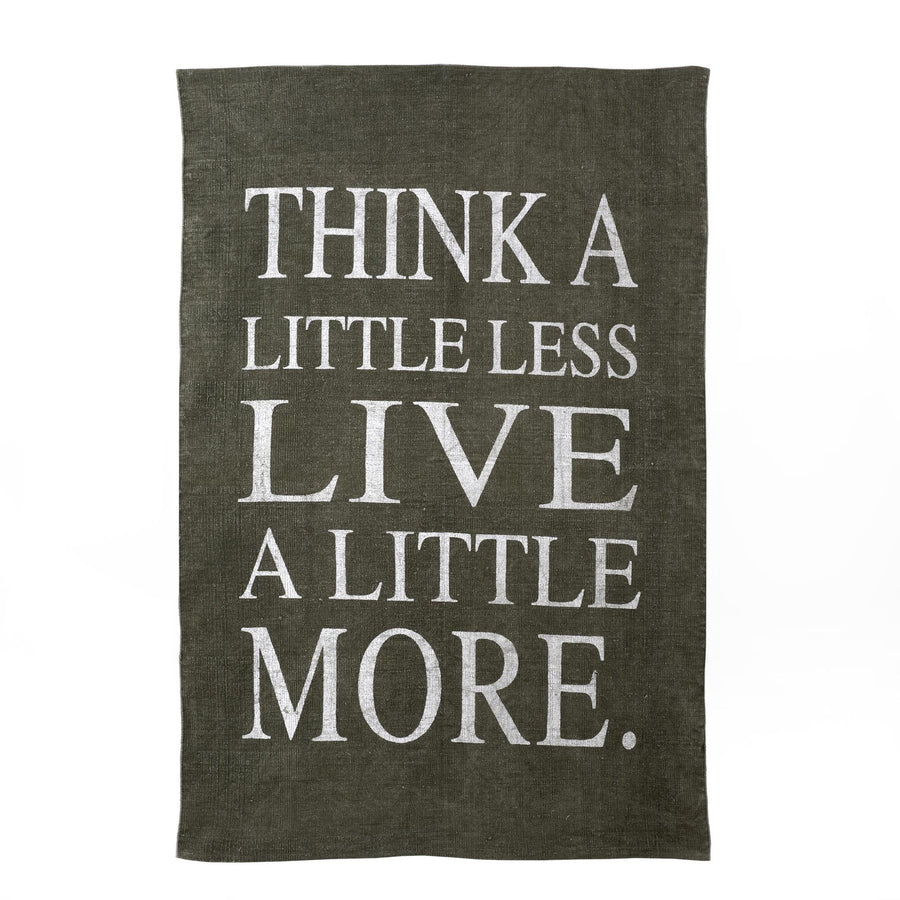 """Think a Little Less Live a Little More"" Rug - Grey"
