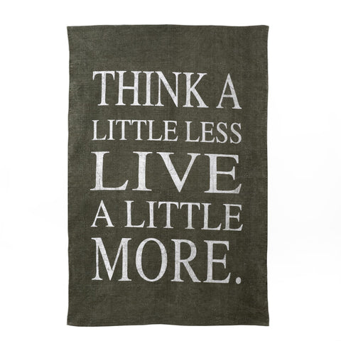 """Think a Little Less Live a Little More"" Rug - Grey -  Soft Furnishings - Indaba Trading - Putti Fine Furnishings Toronto Canada"