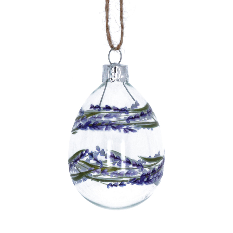 Lavender Glass Egg Ornament