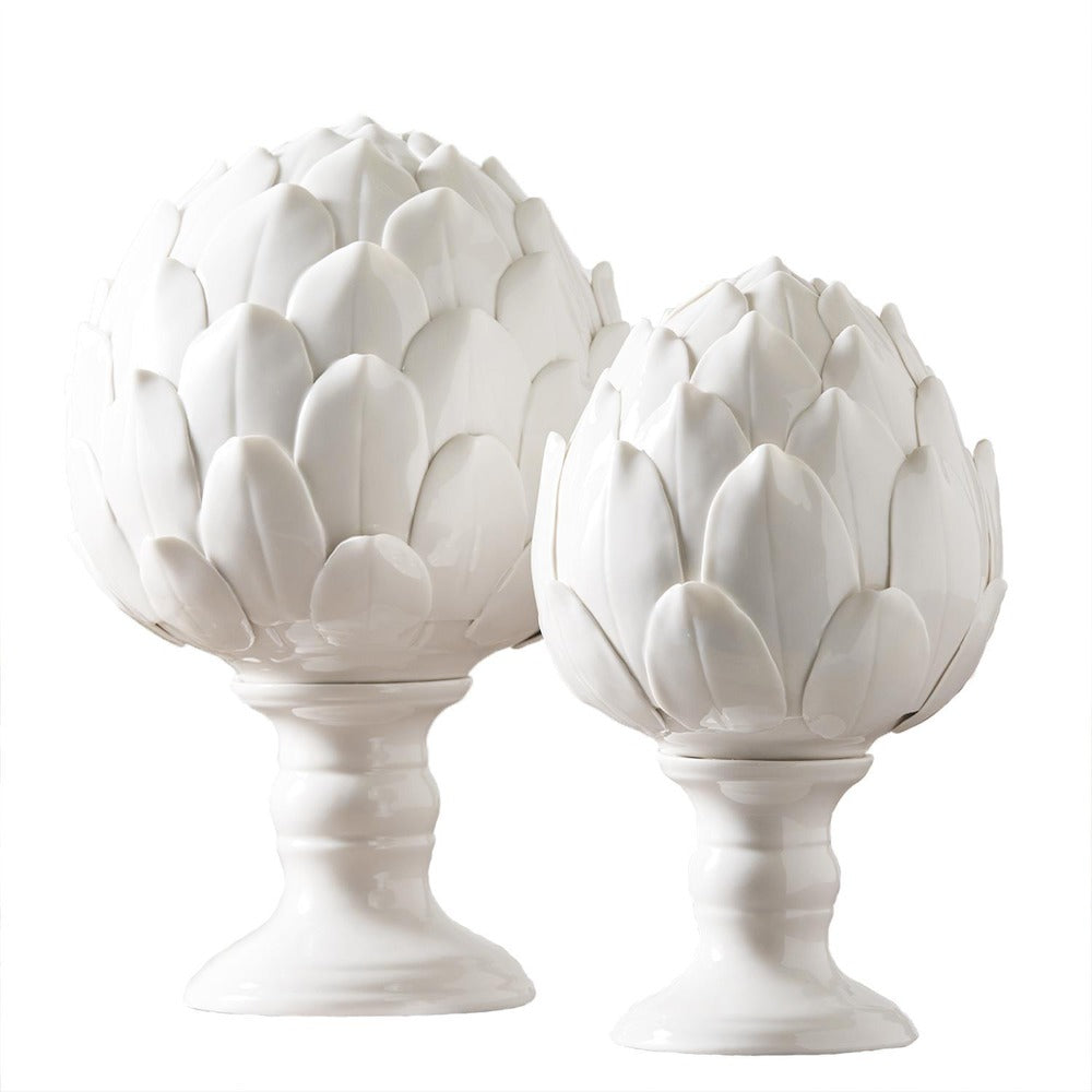 Tozai White Artichoke Sculpture