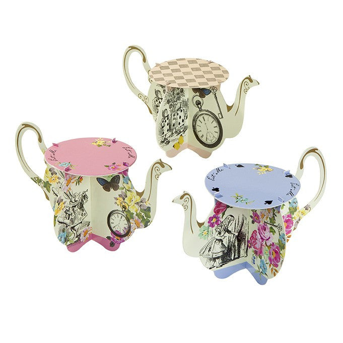 Truly Alice Teapot Cake Stands -  Party Supplies - Talking Tables - Putti Fine Furnishings Toronto Canada - 1