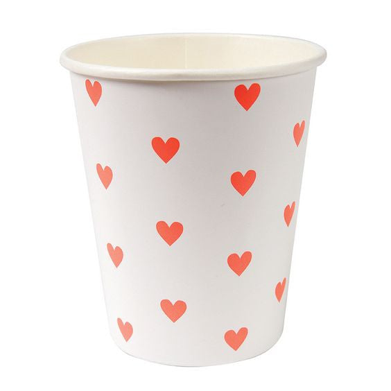 Heart Paper Cups -  Party Supplies - Meri Meri UK - Putti Fine Furnishings Toronto Canada