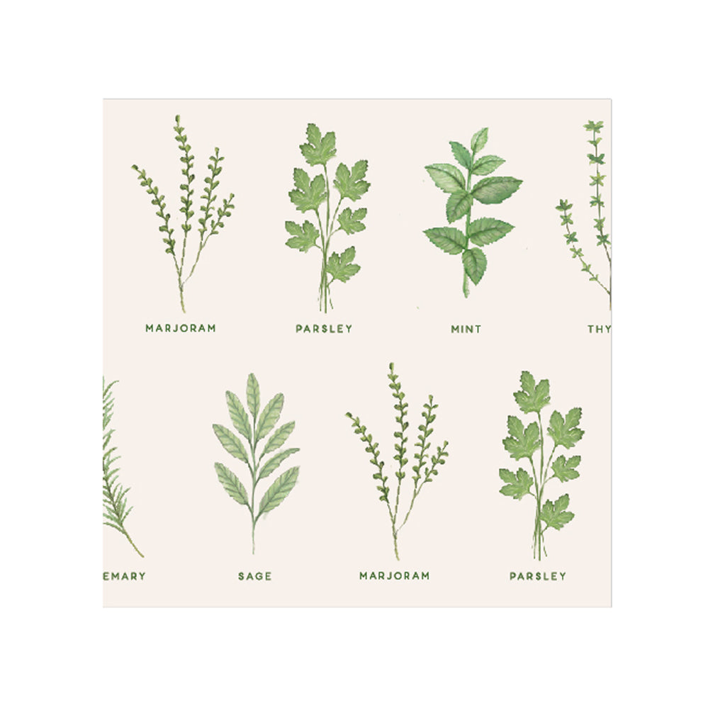 Herbs Paper Napkin - Lunch