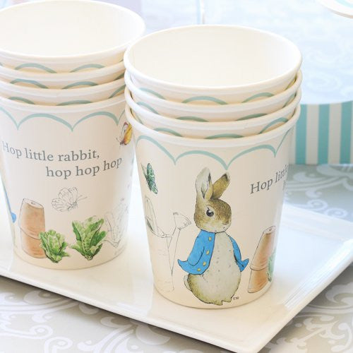 Meri Meri Peter Rabbit Paper Cups -  Party Supplies - Meri Meri UK - Putti Fine Furnishings Toronto Canada - 2