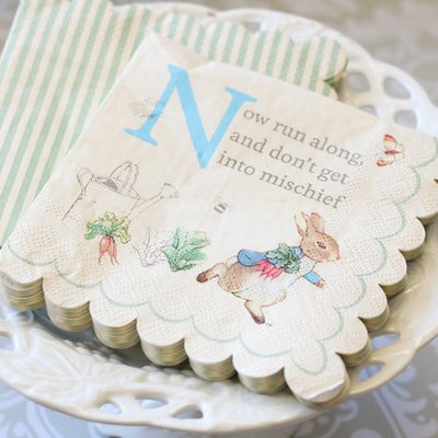 Meri Meri Peter Rabbit Paper Napkins - Small -  Party Supplies - Meri Meri UK - Putti Fine Furnishings Toronto Canada - 2