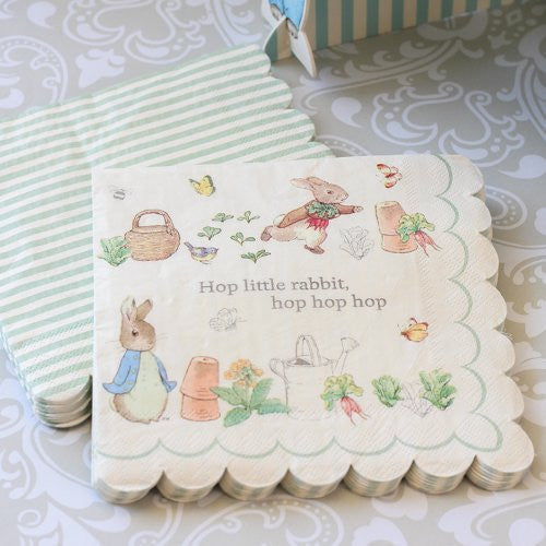 Meri Meri Peter Rabbit Paper Napkins - Large -  Party Supplies - Meri Meri UK - Putti Fine Furnishings Toronto Canada - 1