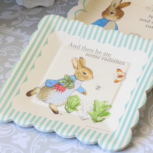 Meri Meri Peter Rabbit Small Paper Plates, MM-Meri Meri UK, Putti Fine Furnishings