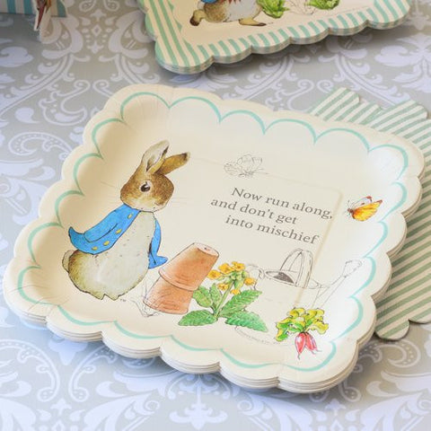 Meri Meri Peter Rabbit Large Paper Plates -  Party Supplies - Meri Meri UK - Putti Fine Furnishings Toronto Canada - 1