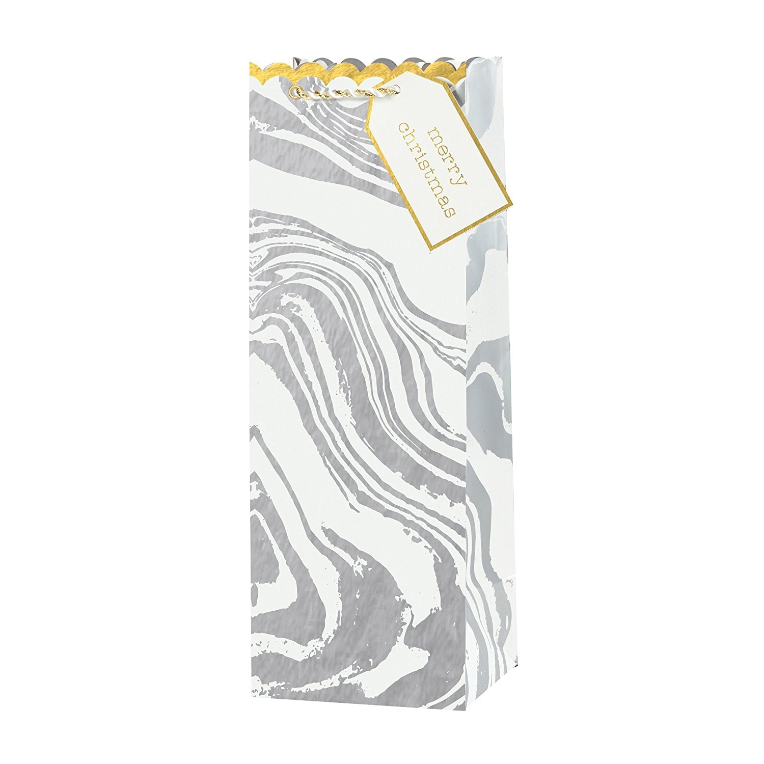 Embellished Bottle Gift Bag - Marble, CRG-CR Gibson, Putti Fine Furnishings