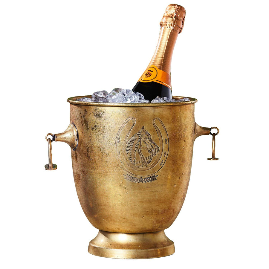Stirrup Thoroughbred Brass Ice Bucket