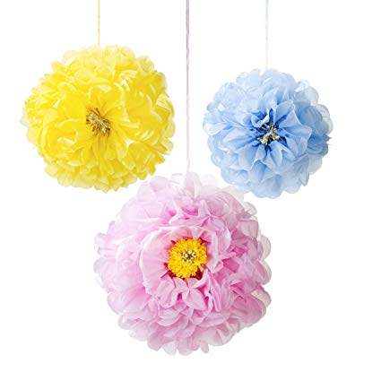 Talking Tables Decedent Decs Pastel  Flower Pom Poms - Putti Canada