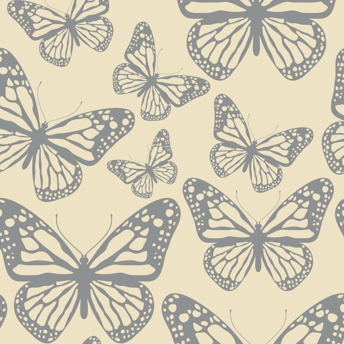 "Elise ""Flutter Silhouettes "" Butterfly Paper Beverage Napkin, CC-Creative Converting, Putti Fine Furnishings"