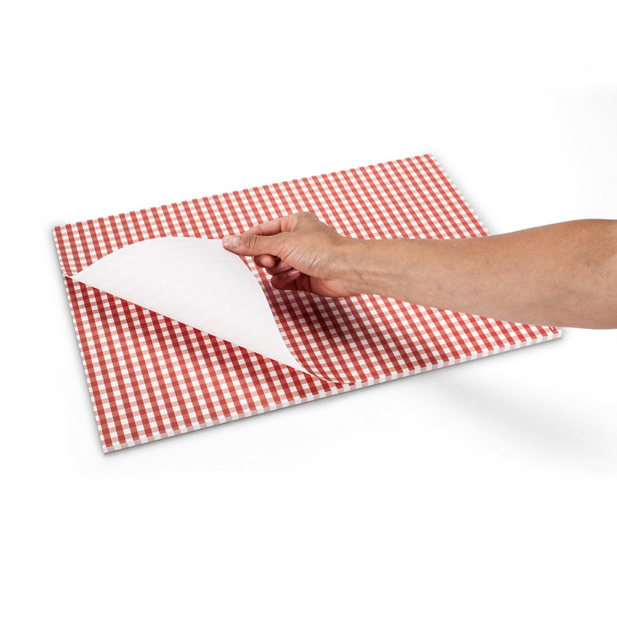 """Vichy"" Red Gingham Paper Placemats"