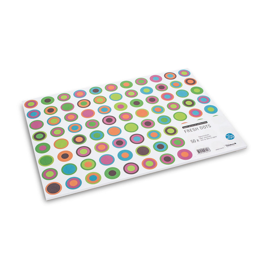 "Colouful ""Fresh Dots"" Paper Placemats"
