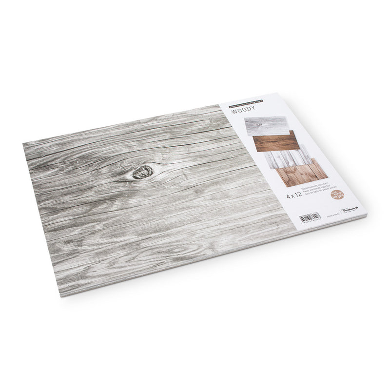 Woodgrain Paper Placemats -  Party Supplies - AC-Abbott Collection - Putti Fine Furnishings Toronto Canada - 1