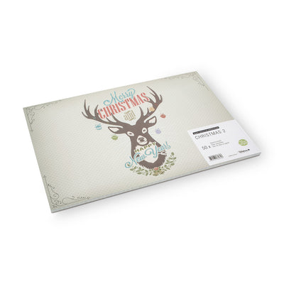 Christmas Deer Paper Placemats -  Christmas - AC-Abbot Collection - Putti Fine Furnishings Toronto Canada - 2