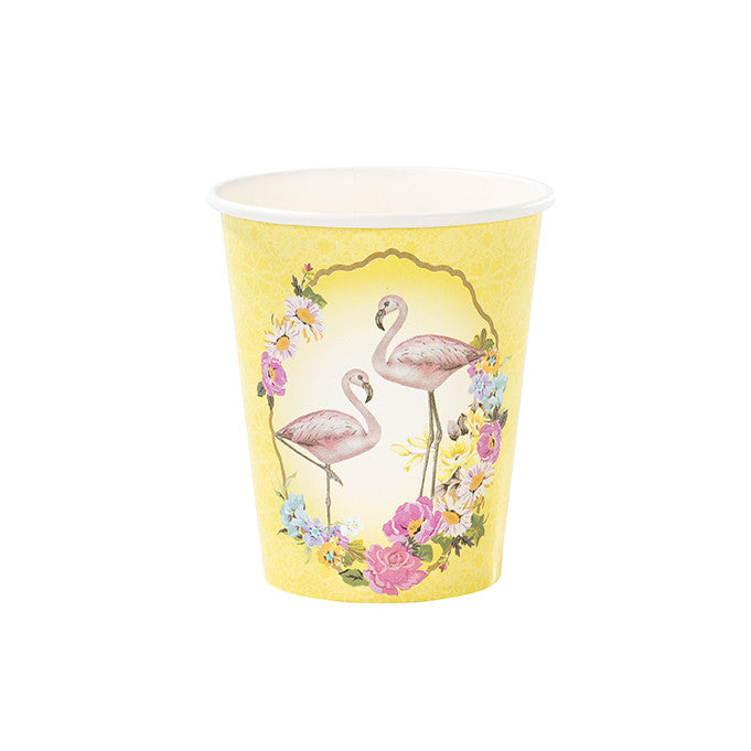 """Truly Flamingo"" Paper Cups"