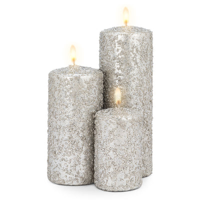 Silver Icy Candle - Medium