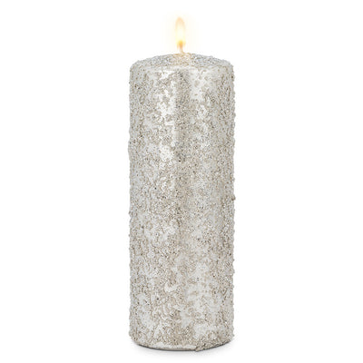 Silver Icy Candle - Large