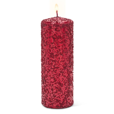 Red Icy Candle - Large | Putti Christmas Celebrations