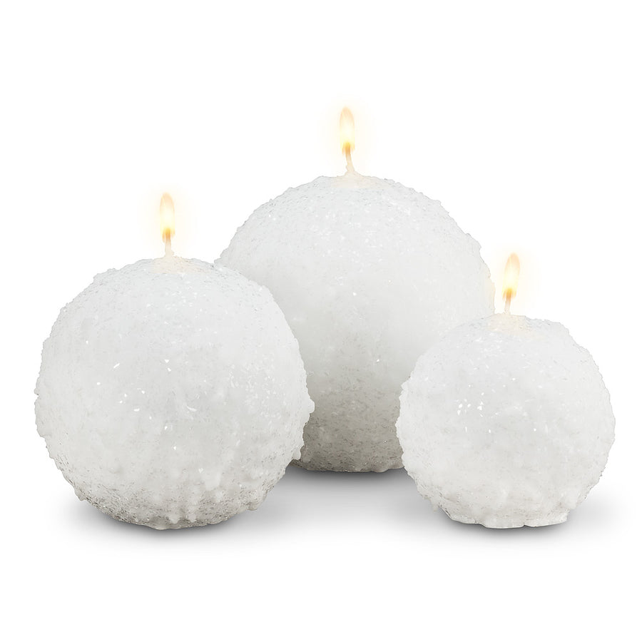 Snowball Candle - Medium