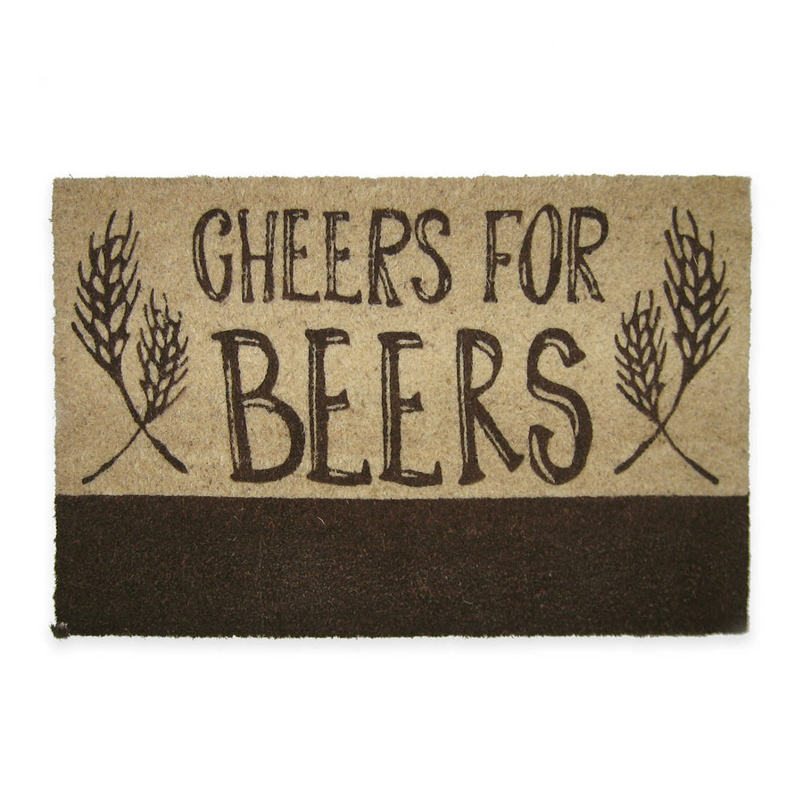 """Cheers for Beers"" Door Mat"