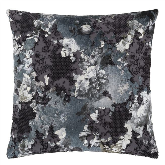 Designers Guild Florenza Graphite Cushion - Putti Fine Furnishings Canada