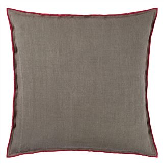 Designers Guild Brera Lino Scarlet Decorative Pillow