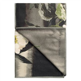 Designers Guild Delft Flower Noir Throw, DG-Designers Guild, Putti Fine Furnishings