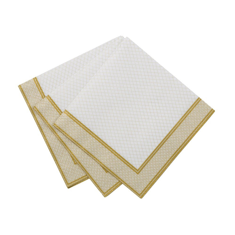 Party Porcelain Gold Paper Cocktail Napkins