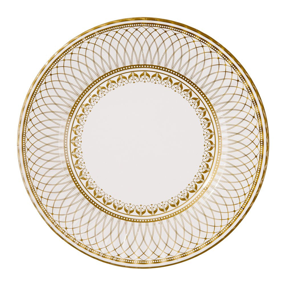 Party Porcelain Gold Large Paper Plates