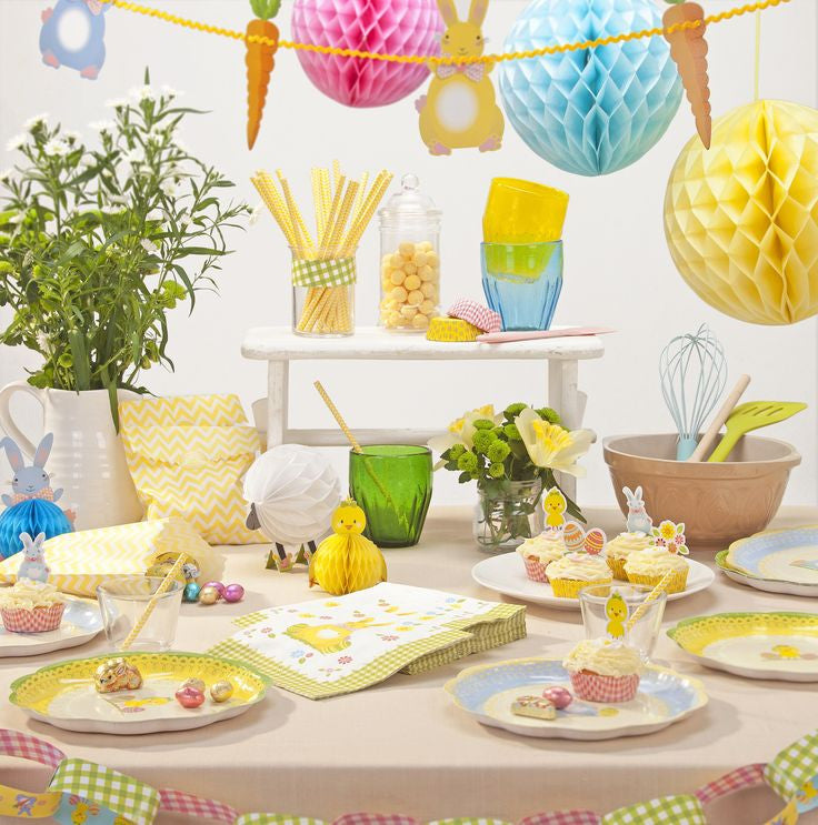 """Springtime"" Easter Bunting -  Party Supplies - Talking Tables - Putti Fine Furnishings Toronto Canada - 1"
